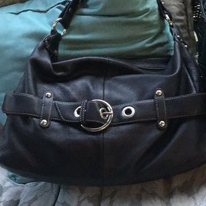 Beautiful a.n.a. Black leather hobo bag